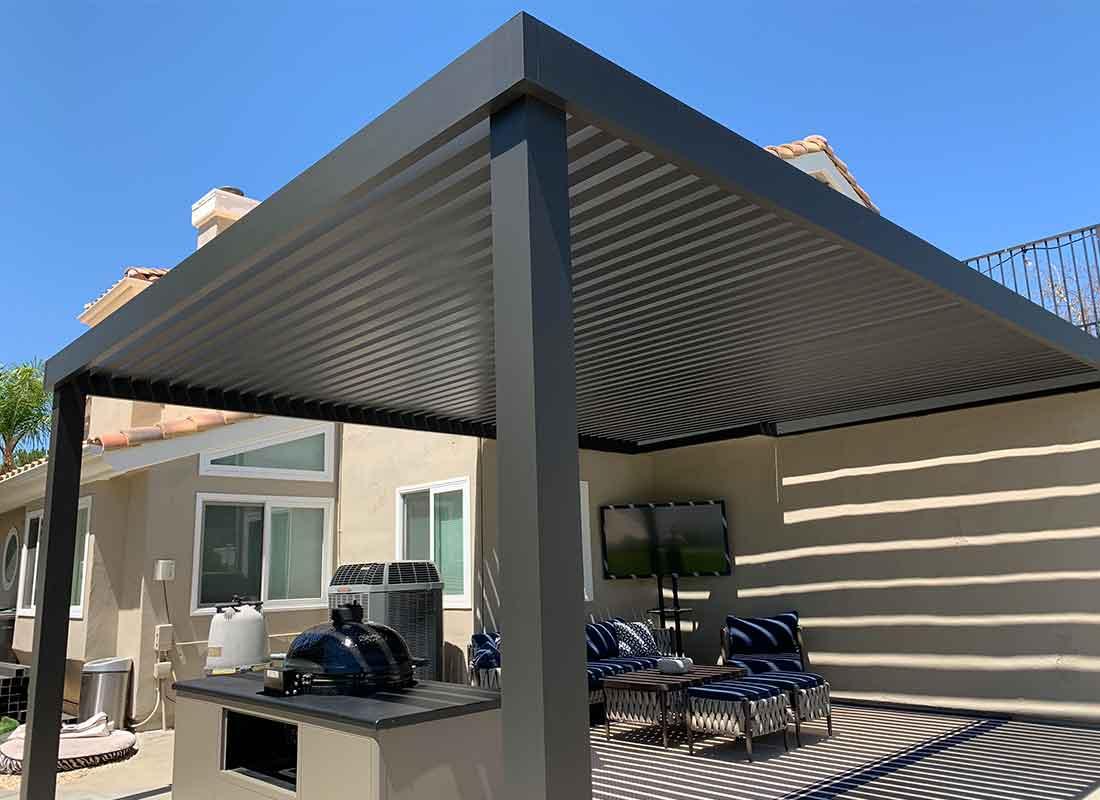 4K Aluminum patio covers in Los Angeles